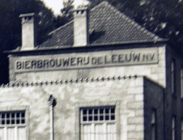 oude foto leeuw bier 1937 emaille bord1