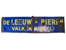 emaille bord blauw rechthoek